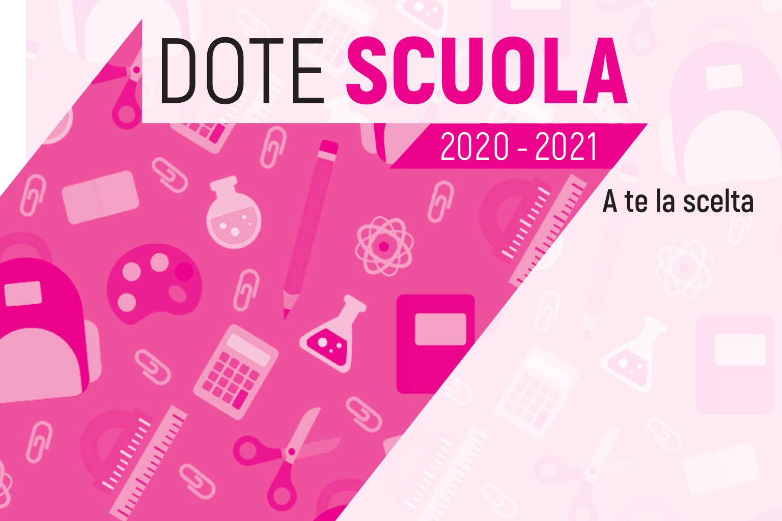 REGIONE LOMBARDIA - DOTE SCUOLA 2020/2021